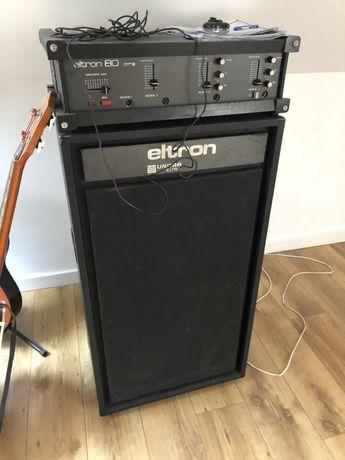 Wzmacniacz Eltron 80, kolumna głośnik Eltron Unitra