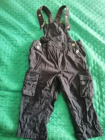 Spodnie ogrodniczki dla chłopca rozmiar 74