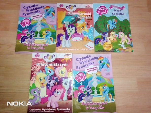 Książeczki wyklejanki my little pony
