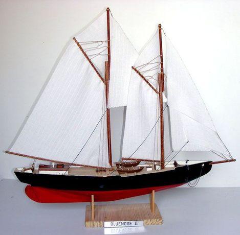 Drewniany model żaglowca Bluenose 2 - ręczne wykonanie, hand made