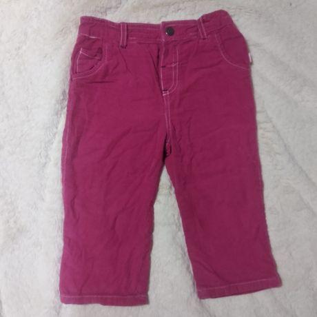 Штаны вельветовые на подкладке, джинсы с кармашками. 1,5 года, 86 см