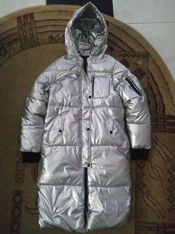 Куртка зимняя блестящая