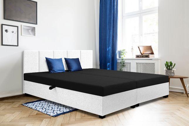 Tapczan dwuosobowy, łóżko do sypialni, hotelowe materca+oparcie