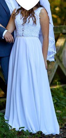 Snieznobiala Suknia ślubna