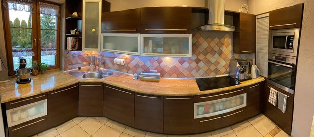 Meble kuchenne - KUCHNIA - komplet mebli, blat granitowy, sprzęt