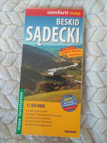 Mapy turystyczne Beskidów (m.in. Sądecki, Niski, Wyspowy, Bieszczady)