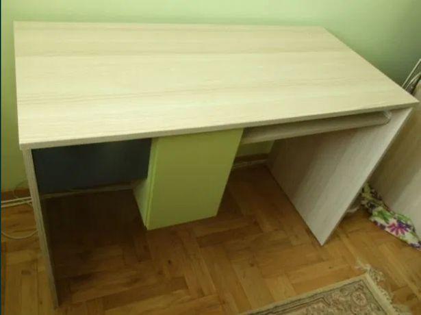 zestaw młodzieżowy biurko + 2 szafki wiszące jesion+grafit+zieleń