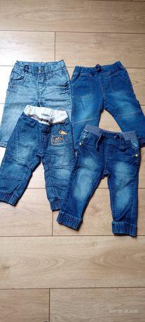 Spodnie z miękkiego dżinsu 4 szt.