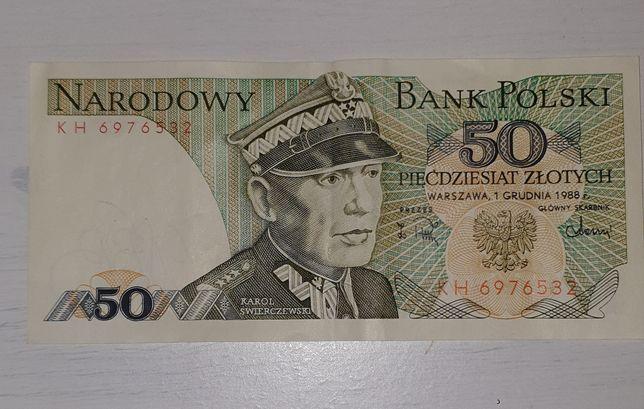 50-dziesiąt Polskich złotych 1988r