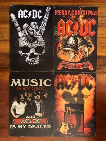 Металлические Ретро Таблички AC/DC
