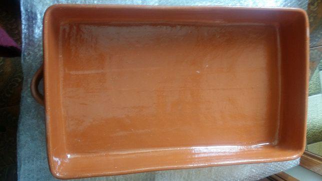 Assadeira em barro vidrado 60 x 40