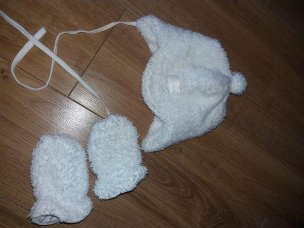 Czapka rękawiczki zimowe komplet 38