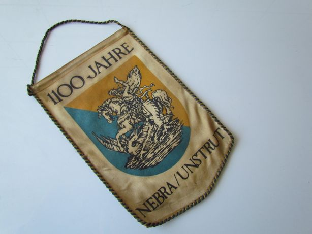 Proporczyk 1100 lat Nebra Unstrut Herb Niemcy
