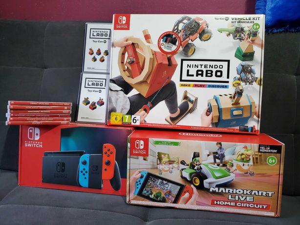 Nintendo Switch V2 /Gwarancja/ SUPER Mega Zestaw/SUPER Hity!