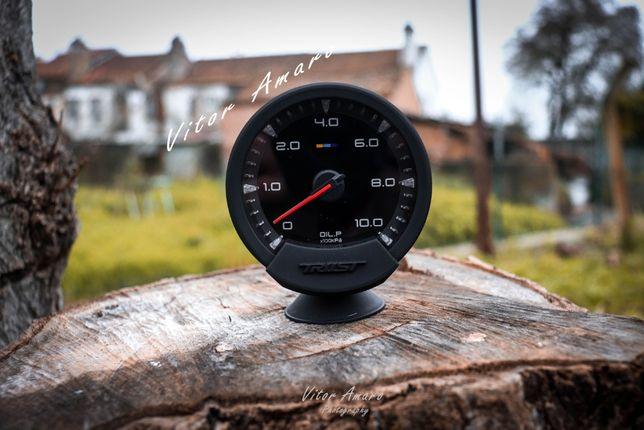 Manometro Pressão de Oleo 74mm RGB com 7 Cores para Carro|NOVO