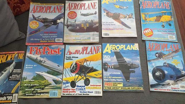 LOTE de 9 Revistas Aeroplane ,aviões, ,posters e muito mais