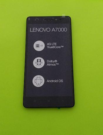 Тачскрин экран Lenovo A7000 A7000-a модуль с рамкой, дисплей. Оригинал