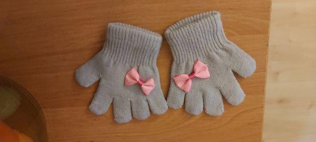 Rękawiczki dla dziewczynki 2 pary