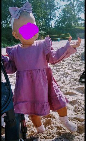 Sukienka newbie Lila z opaska zestaw 80 na święta roczek