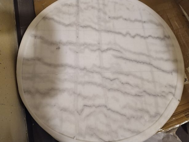 Blat do stołu marmur 105 cm, stół do jadalni Corby Actona, nowe 2 szt.