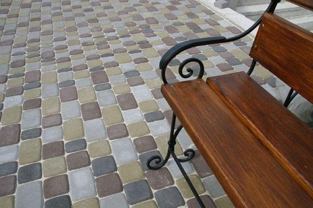 Тротуарная плитка. Укладка.