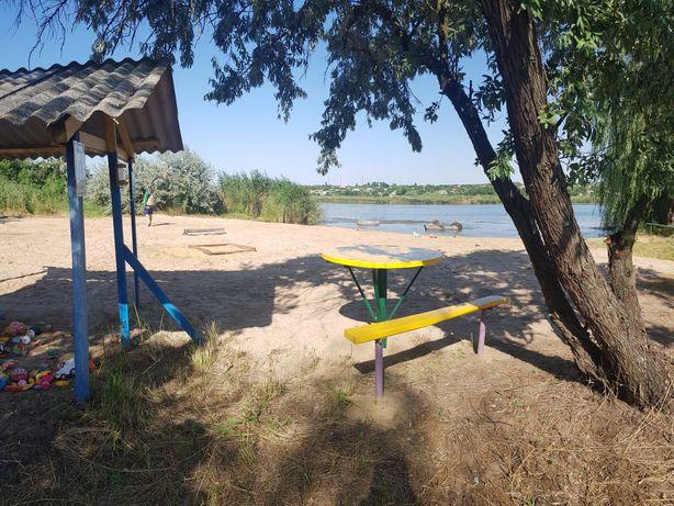 Продам свежий дом-дачу,коммуникации,свой новый пляж,5 км от города