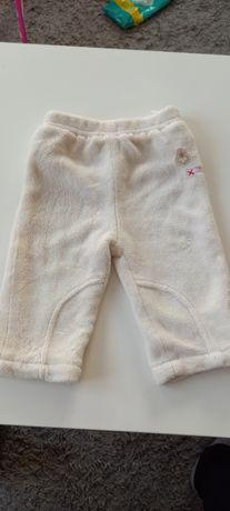 Spodnie r.68 ocieplane