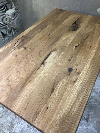 Blat debowy Rustykalny styl do stolika kawowego lawy loft