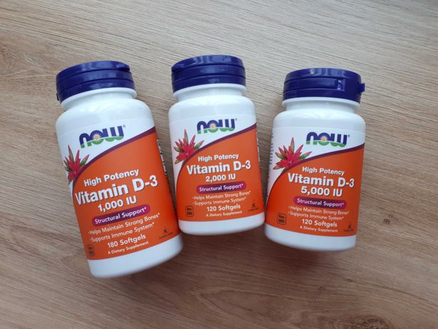 Витамин Д 1000, 2000, 5000 МЕ Now Foods