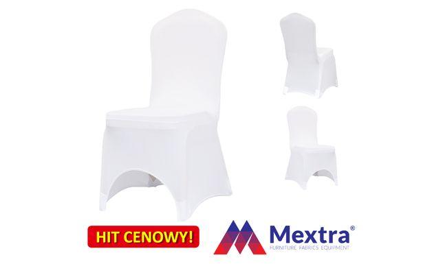 Pokrowce na krzesła bankietowe SLIMTEX 200 białe, pokrowiec
