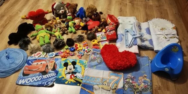 Maskotki, zabawki, organizer na zabawki i różne inne rzeczy