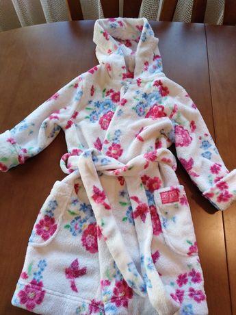 Теплые флисовые халаты на 6-18-24мес и 3-4года