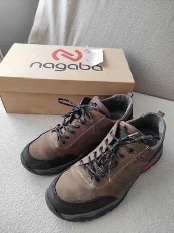 Nagaba buty męskie trekingowe skóra naturalna 42