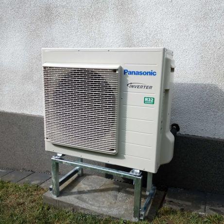 Pompa ciepła PANASONIC 9 kW Nowa Z Montażem + Zasobnik CWU Inox