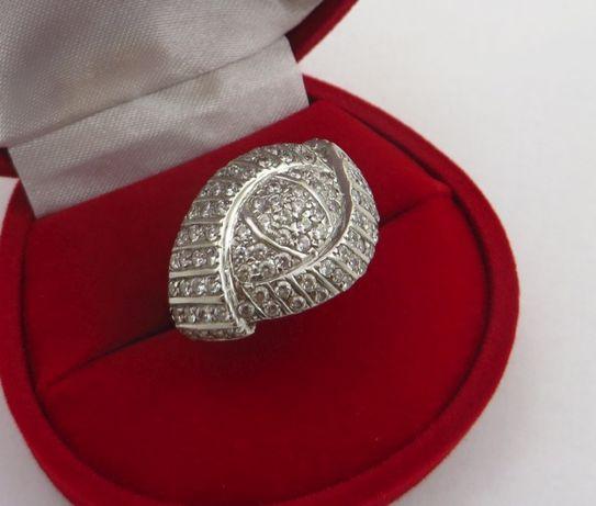 Złoty pierścionek z białego złota 5,97g p585 r.19 /STERNA złoto