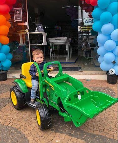 AUTECZKA.NET - Koparka traktor JOHN DEERE z łyżką na akumulator TUR