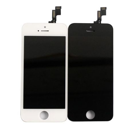 Ecrã LCD + Touch Screen + vidro para Apple iPhone 5S / SE Branco/Preto