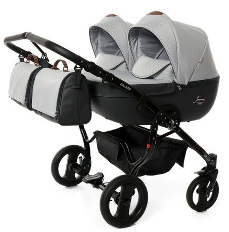 Wózek bliźniaczy Junama Madena Duo 6w1 -  nowe spacerówki