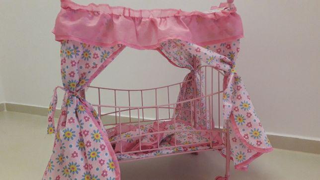 metalowe łóżeczko dla lalek + gratis rożek