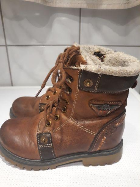 Buty skórzane dziecięce zimowe Lasocki 27
