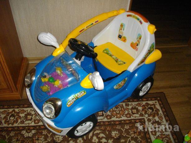 Машина электромобиль детское авто на аккумуляторе, свет и звук