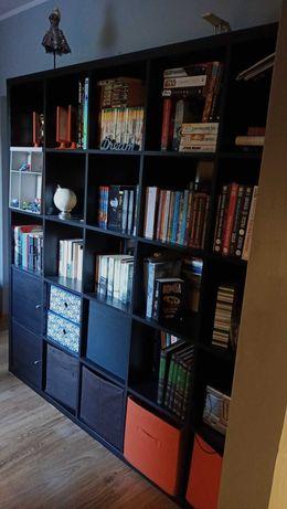 Regał ikea kallax czarnobrązowy 5x5 krata biblioteczka