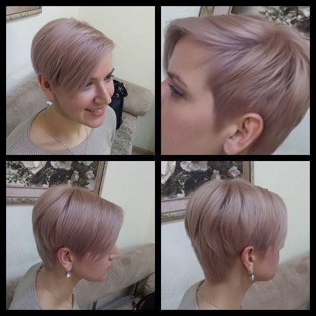 Наращивание волос, стрижки, покраски,