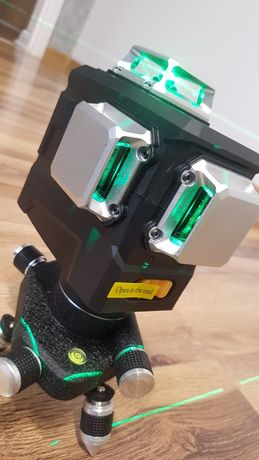 Laser deko 3d, zielona wiązka, skosy