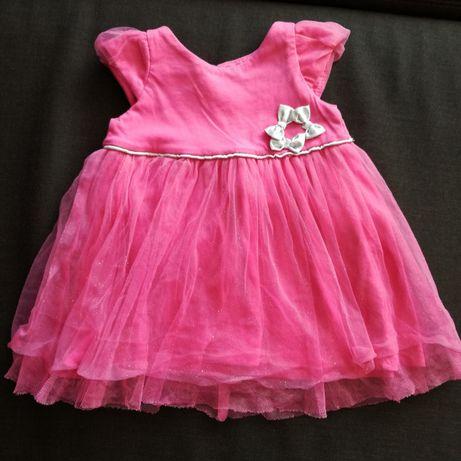 Różowa elegancka sukienka cool club smyk 74