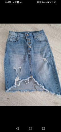Spódniczka jeansowa damska MSara S