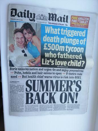 Газета на английском языке Daily Mail
