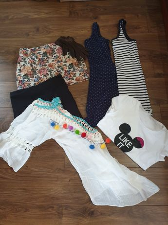 Paka ubrań spodnie sukienki spódnice zara Mohito