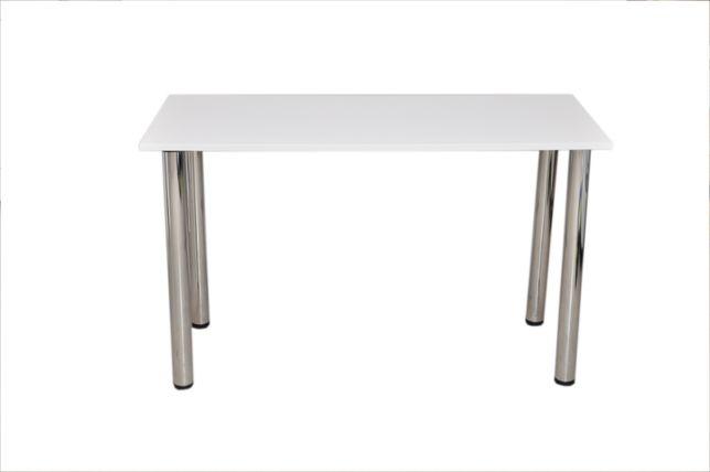 Stół kuchenny biurkos Prostokątny biały 50 cm x 120 cm x 75 cm
