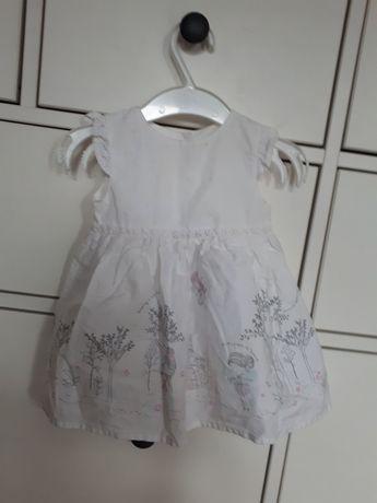 Sukienka niemowlęca biała 62 wróżki na święta imprezę